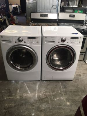 Set washer and dryer brand LG electric dryer everything is good working condition 90 days warranty delivery and installation for Sale in San Leandro, CA