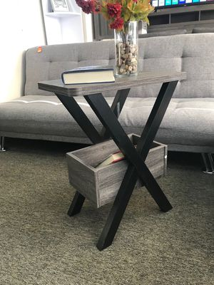 Alison End Table, Distressed Grey and Black for Sale in Santa Ana, CA