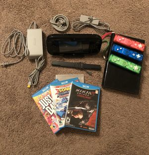 Nintendo Wii U 32GB (Black) for Sale in Houston, TX