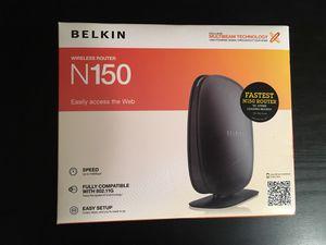 Belkin N150 Wireless Router for Sale in Pittsburgh, PA
