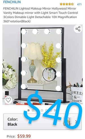FENCHILIN 4.6 out of 5 stars471Reviews FENCHILIN Lighted Makeup Mirror Hollywood Mirror Vanity Makeup mirror with Light Smart Touch Control for Sale in Pomona, CA