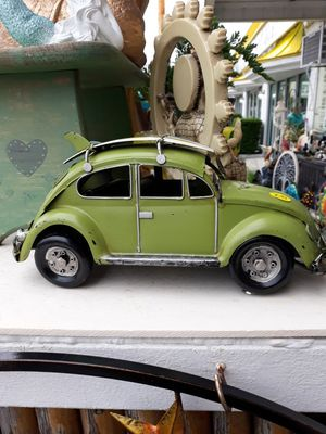 Cool tabletop VW Bug with surfboards on top for Sale in Dunedin, FL