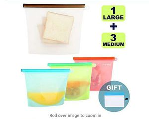 Reusable Silicone Food Storage Bags,Yeeone Food Grade Airtight Seal Versatile Preservation Bags for Sandwich, Snack, Vegetable, 5 Pack for Sale in Rancho Cucamonga, CA