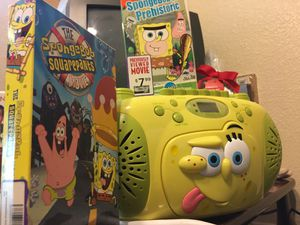 Spongebob Squarepants CD Cassette FM AM Radio! for Sale in Fort Worth, TX