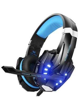 Stereo Gaming Headset for PS4, PC, Xbox One Controller, Noise Cancelling Over Ear Headphones with Mic, LED Light, Bass Surround, Soft Memory Earmuffs for Sale in Corona, CA