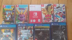 PS4 and Nintendo Switch Games (check description) for Sale in Brockton, MA
