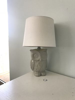 Gray owl lamp for Sale in Fort Lauderdale, FL