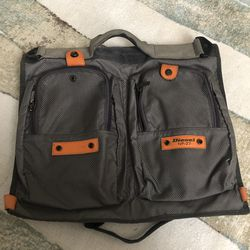 """Diesel Nylon Computer Messenger Bag grey orange zipper pockets. Condition is """"Pre-owned"""". Great Preowned condition but missing cross body strap. Stil for Sale in Queens,  NY"""