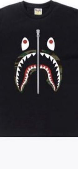 Black Bape Camo Shark Tee for Sale in Sterling Heights,  MI