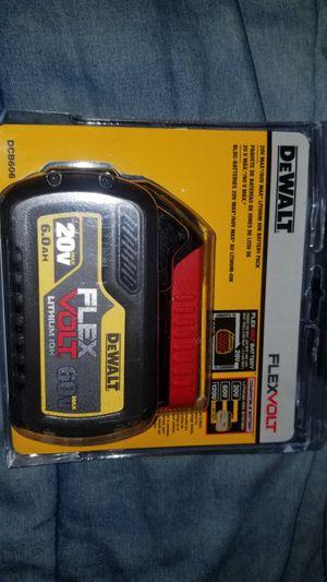 BRAND NEW DEWALT 6.0 AH FLEX VOLT 60V for Sale in Westlake, OH