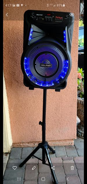 """New 15"""" subwoofer 2,700 watts Bluetooth, rechargeable, usb, sd, tf, fm, microphone, remote control and stand for Sale in Riverside, CA"""