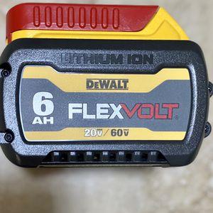Dewalt 20vMax/60vMax FLEXVOLT 6.0 Battery for Sale in Glendora, CA