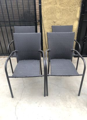 Large wicker patio chairs for Sale in West Covina, CA