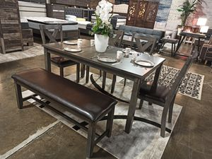 6 PC Dining Set, Grey for Sale in Norwalk, CA