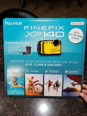Fujifilm Finepix XP140 Camera 4k underwater Bluetooth wifi gopro alternative camera for Sale in Murrieta, CA
