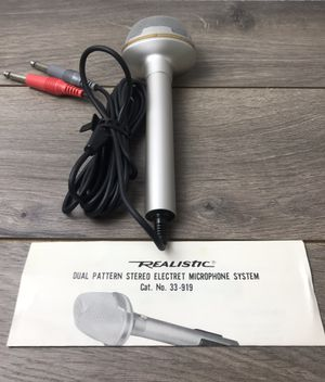 Realistic Condenser Stereo Electret Microphone 33-919A Tested. And cover for Sale in Pittsburg, CA