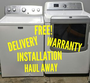 FREE DELIVERY/INSTALLATION/WARRANTY/HAUL AWAY - Maytag HE Washer & Dryer for Sale in Hilliard, OH