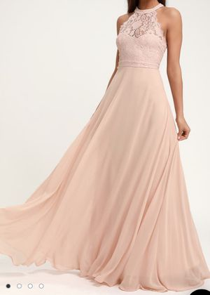 Blush pink prom dress for Sale in Park City, UT