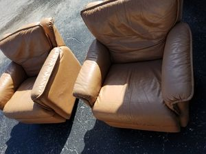 Pair of leather recliners for Sale in Palm Beach Shores, FL