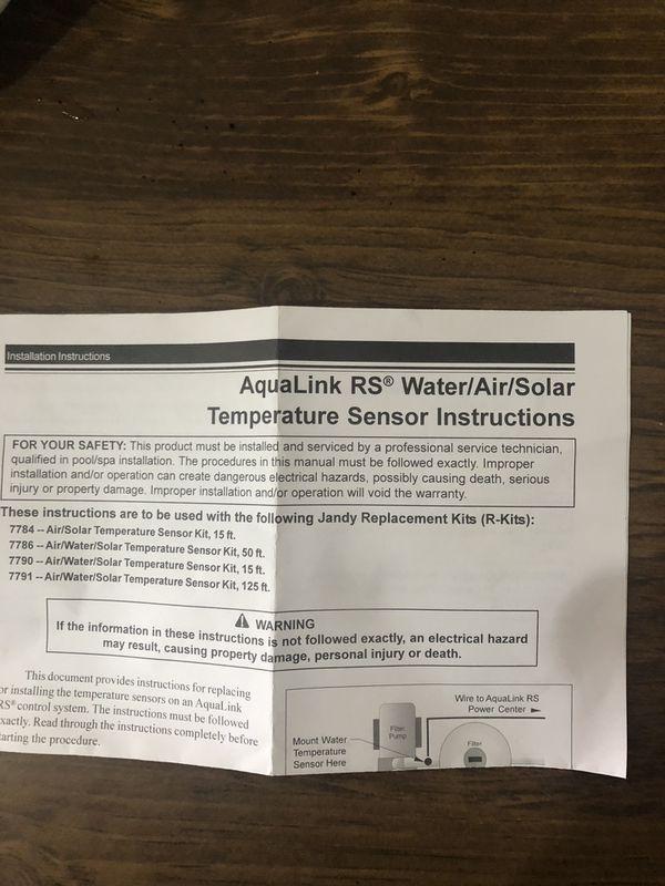 Zodiac Air/water/solar Temperature sensor