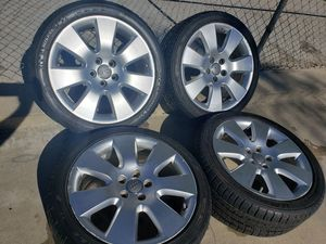 """AUDI 18""""INCH WHEELS WITH 235/40/18 TIRES + TPMS AIR SENSORS for Sale in Ontario, CA"""