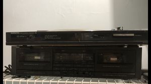 ONKYO Stereo with Cassettes,Record Player, equalizers, CD Player (4) Speakers for Sale in Arlington, VA