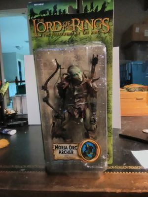 """Moria Orc Archer Lord Of The Rings Fellowship Ring MOC 6"""" Action Figure Toy 2004 for Sale in Leander, TX"""