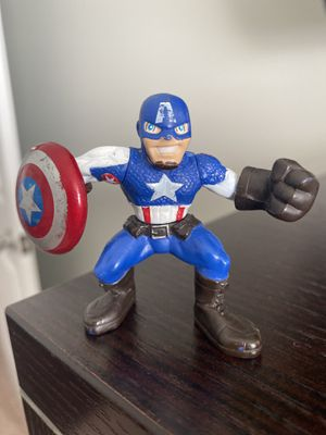 "Marvel Super Hero Squad ULTIMATE CAPTAIN AMERICA (see Pic For Signs Of Wear) 2"" for Sale in Fayetteville, NC"