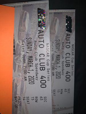 Nascar Tickets $60 for Sale in Rialto, CA