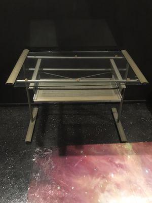 Glass Computer Desk (Pull Out Keyboard) for Sale in Hazel Park, MI