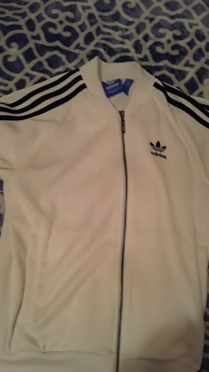 White/black adidas sweater . Small for Sale in Gaithersburg, MD