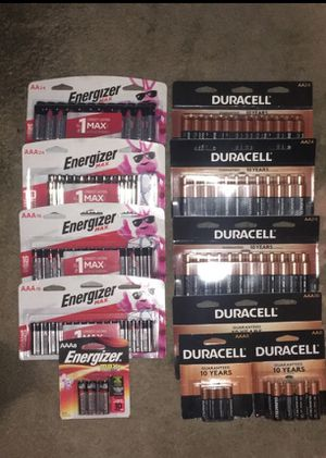 AA/AAA Duracell Energizer batteries for Sale in La Habra Heights, CA