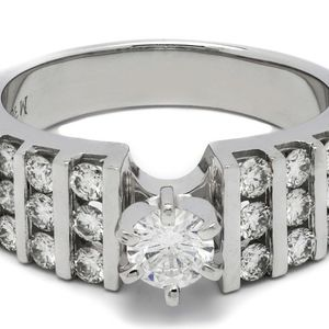 U3528 DIAMOND RING 0.59CT LADIES ENGAGEMENT WEDDING BAND 18K GOLD for Sale in Los Angeles, CA