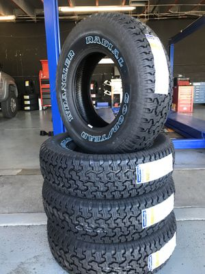 235/75/15 New set of Goodyear tires installed for Sale in Rancho Cucamonga, CA