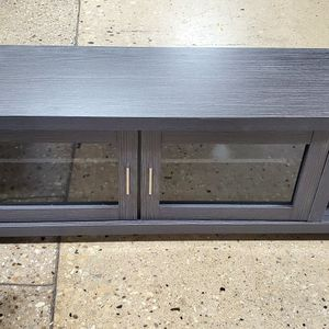 Gray TV Entertainment Cabinet for Sale in Bensenville, IL