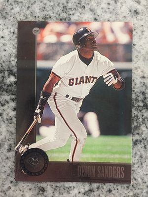 Deion Sanders baseball trading card for Sale in Lombard, IL