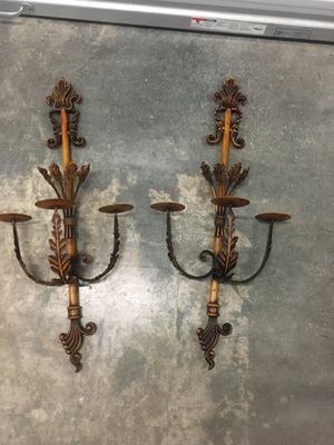 Nice wall designer wrought iron candle holder for Sale in Ocoee, FL