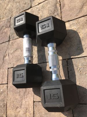CAP 15lb Gym Weight Dumbbells (Pair) Brand New!! 🔥 for Sale in Las Vegas, NV