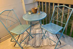 3 Pc Light Blue Metal Patio Set for Sale in Kent, WA