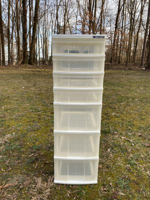 White 7-Drawer Iris Storage Cart With or Without Wheels for Sale in Woodbridge, VA