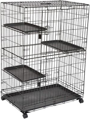 3 Level Metal Cage For Cats BRAND NEW In The Box. for Sale in Modesto, CA