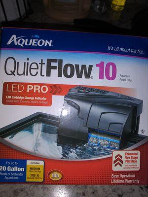 Aqueon 10 aquarium power filter for Sale in East Norriton, PA