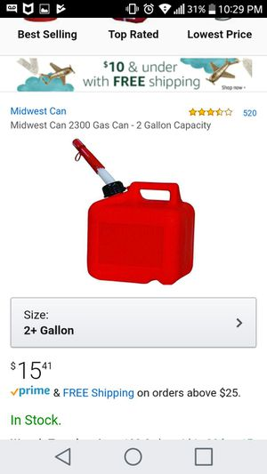 2 Gallon gas can. Model 2300 for Sale in Silver Spring, MD