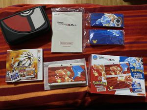 Nintendo 3DS Pokemon Red and Blue 20th Anniversary Edition with Moon & Sun for Sale in Seattle, WA