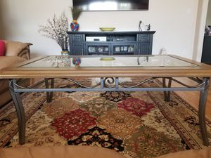 Glass Top Coffee Table and 2 Accent Tables for Sale in Temple City, CA