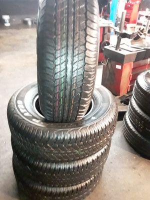 Set of semi new 265/70/16 Dunlop grandtrek 95% tread includes installation and balance for Sale in La Mirada, CA