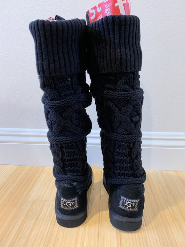 985bc927caa NEW Over-the-knee Cable Knit UGG Boots. Size 5. Black for Sale in Los  Angeles, CA - OfferUp