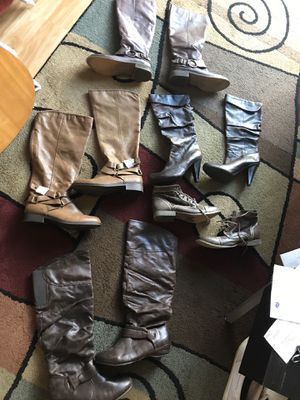 Awesome Ladies Boots - Most Leather - Size 8-9 - I am cleaning out my boots because I have way too many. They are $12 each. Some of the brands are for Sale in Raleigh, NC