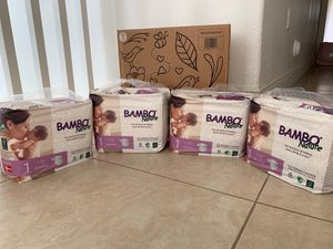 4 packs Brand NEW! Bambo nature toxic free diapers size 1 for Sale in Miami, FL