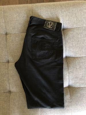 Versace Slim Fit black Denim jeans pants for men for Sale in Los Angeles, CA